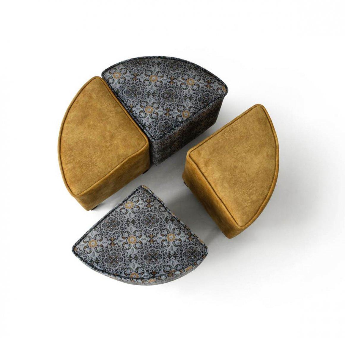 mobilya kervanı quatro 4'lü puf takımı
