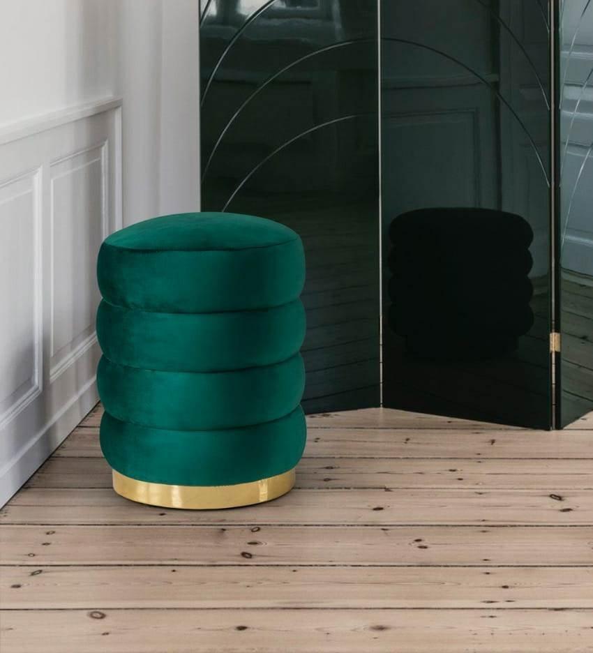 mobilya kervanı Yeşil Dekoratif Puf